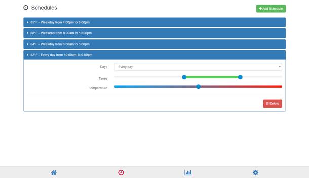 HeaterReader Desktop App - Schedule