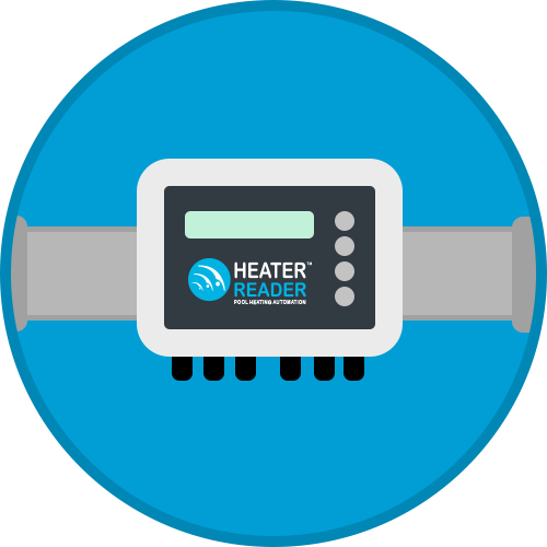 Connect the HeaterReader to your pool heater and pool pump