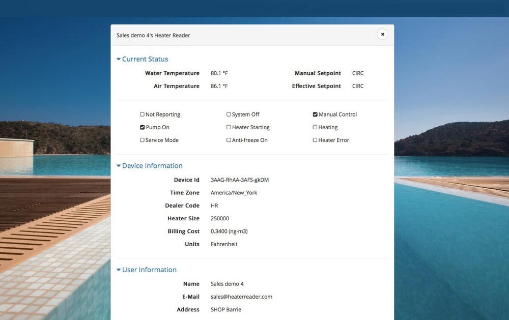 HeaterReader™ Control Centre - User Settings